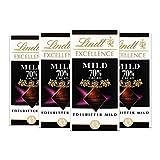 Lindt Excellence 70% Cacao milde Edelbitter-Schokolade (vegan, glutenfrei, laktosefrei) 4 x 100g