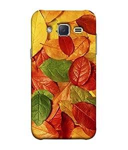 FUSON Designer Back Case Cover for Samsung Galaxy J2 J200G (2015) :: Samsung Galaxy J2 Duos (2015) :: Samsung Galaxy J2 J200F J200Y J200H J200Gu (Nature Colour Big Lotus Leaves Network Of Veins)