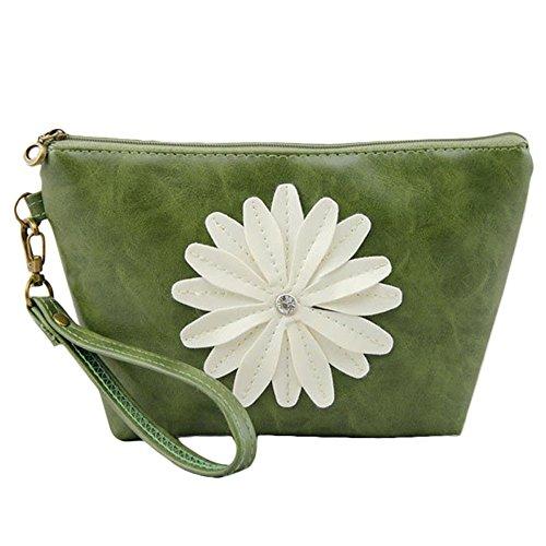 Sammlung Mode Hobo (Handtaschen -Tasche,WINWINTOM Sunflower Cosmetic Bag Telefon Multicolor Packet Handtasche (Grün))