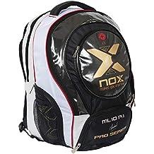 NOX Ml10 Pro P.1 Mochila de Pádel, Unisex Adulto, Blanco, Talla