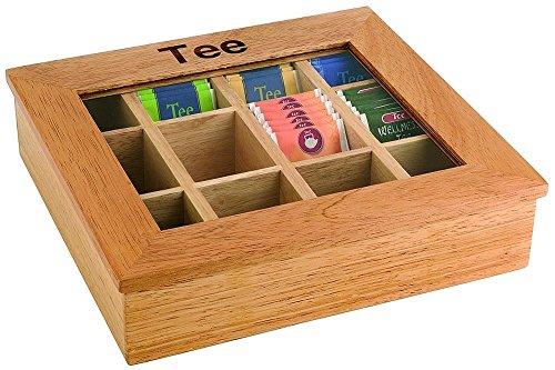 Assheuer & Pott ASS11775 Teebox mit 12 Kammern 30 x 28 cm, Höhe 9 cm