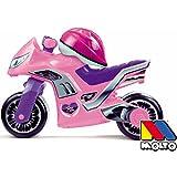 Rutsch Motorrad mit Helm und breiten Reifen, dient als Lauflernhilfe für die Kleinen, 73 cm,...