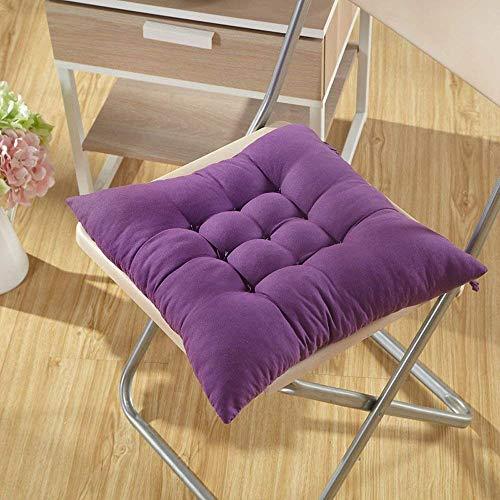 Fendii - Cojín suave para silla de comedor, jardín, cocina, color púrpura (40x 40x 8cm)