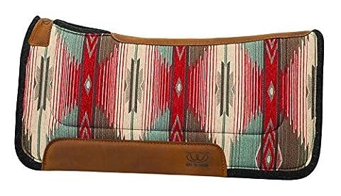 Weaver Leather Herculon Working Contoured Saddle Pad with Wool Felt Bottom, 32