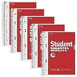 5 BRUNNEN Collegeblöcke Student A5 kariert
