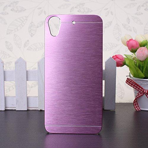 EKINHUI HTC Desire 626 Coque, Luxe bross¨¦ hybride en m¨¦tal Housse dur pour HTC Desire 626(Pink)