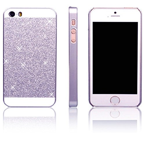 Vandot Smart Cover Housse Coquille Sac Coque Etui Case Hull pour Apple Iphone 4 4S Protection Coque Bing PC le Plastique Premium Luxe Diamant Strass Hull Shell Couvrir Couverture - Bleu Blue argent