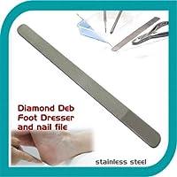 Sanguine Diamond Deb Cassettiera piede e diamante Deb-Lima per unghie, in acciaio, di alta qualità