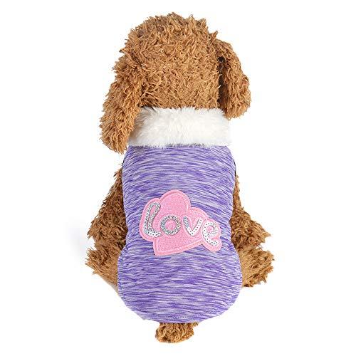 Berrose-Haustier Hundekleidung Puppy Baumwollmantel Zweibeinige Kleidung Winter warmen Mantel Katze Hund Pullover, warme Pullover Cat Kleidung, Fleece für Welpen Small Medium Large Dog