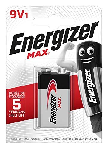 Energizer Batterie Max Alkaline 9V (E-Block/6LR61 1er-Packung) Energizer Max 9v Batterien