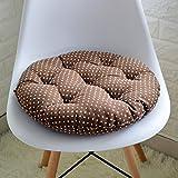EFRC Algodón futón tatami circular banco oficina silla asiento acolchado cojín de la silla de mimbre tela estudiantes,15