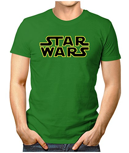 Prilano Herren Fun T-Shirt - Star-Wars-Logo - XL - Grün