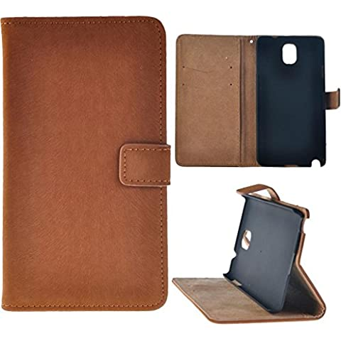 Luxury Magnet Design Wallet Leather Flip Cover with Kickstand Card Holder Case For Samsung Galaxy Note 3 III (Brown)