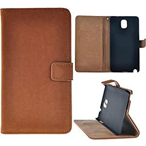 Luxury Design Aimant Cover Flip-monnaie en cuir avec B¨¦quille Case Holder Card Pour Samsung Galaxy Note 3 III (Brown)