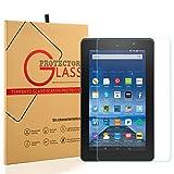 unuber Scratch Resist protezione schermo in vetro temperato [9H Durezza] [Crystal Clear] [Bubble Free] per Amazon Fire 8pollici Tablet