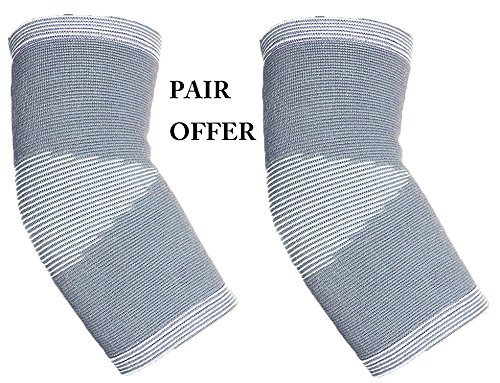 Solace Care Advance Verstellbarer kompressives Elastic Ellenbogen Arthritis Support Sleeve/Sport Wrap Bandage-Unterstützung für gereizte, steife/schmerzende Ellenbogen-fördert Recovery, Wärme Therapie Unterstützung Verletzungen, Muskelkater, Arthritis, Bursitis und Tendinitis-schwache/steife schmerzende Schmerzen Ellenbogen (Paar) (Unisex) - Therapie Ellenbogen-wrap