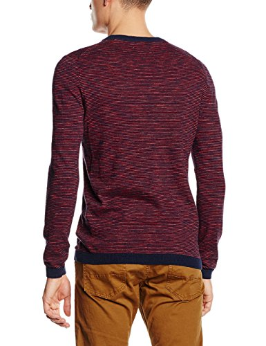 ESPRIT Herren Pullover Gestreift - Regular Fit (NAVY 400)