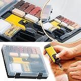 Safekom - 19unidades de herramientas para laminado de suelo y mesa, muebles, armario, Madera, marco de ventana, Kit de reparación, Sistema de cera pa