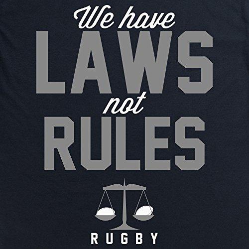 Laws Not Rules T-Shirt, Herren Schwarz