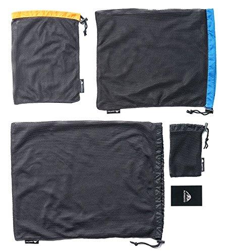 ALPAMAYO® Packbeutel, Netzbeutel, Wäschebeutel, Wäschesack, Tasche, Set 4-teilig