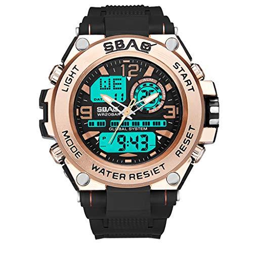 DAYLIN Digital Reloj Deportivo, Militar al Aire Libre Reloj para Hombres Resistente Al Agua LED Luz...