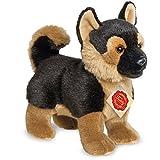 Teddy Hermann 919292 Schäferhund Welpe stehend Plüsch, 23 cm