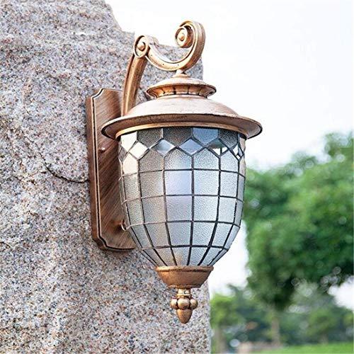 Caractéristiques Filet de pêche Forme Abat-jour en verre Lanterne murale extérieure Nordic Simple Extérieur Jardin Villa Terrasse E27 Applique murale (Couleur: Bronze)