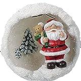 Snowballs Christmas–Decorazione da appendere con Babbo Natale palla di neve