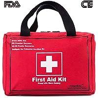 Songwin Kompakt Erste Hilfe Set mit 130 Teilen Harte Tasche-Wasserdichte Mini First Aid Kit für Haus,Auto,Camping,Wandern,Sport,Arbeit,Büro,Boot,Überleben Und Reisen,Klein Und Leicht.