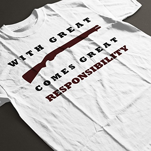 With Great Shotgun Comes Great Responsibility Women's T-Shirt White