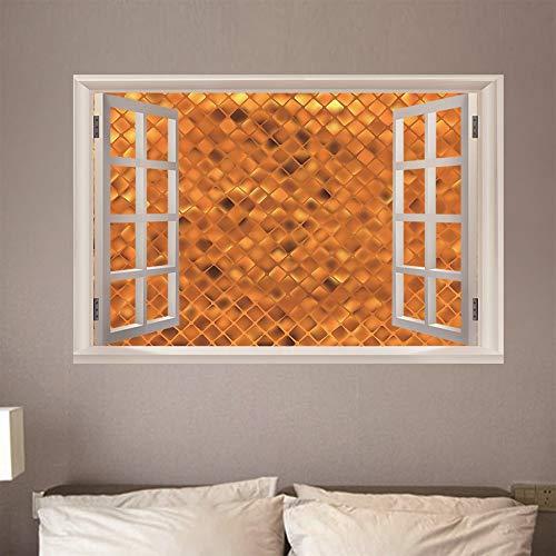 Fensteransicht Wandaufkleber Aufkleber 3D Gefälschte Aufkleber Poster Dekorationen für wohnzimmer bad schlafzimmer hause familie dekor bienenstock 50 x 70 cm