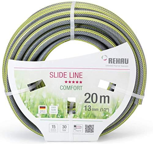 REHAU Comfort Slide Line 50 m Gartenschlauch | grau/gelb | 1/2 Zoll | 1 Rolle