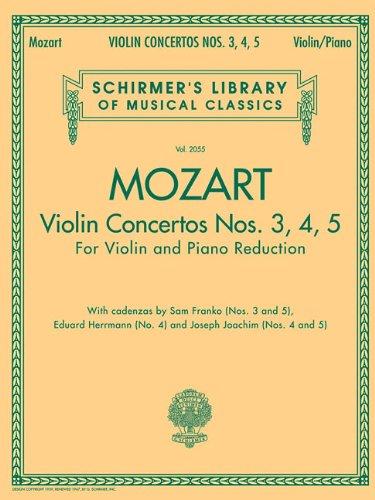 W. a. Mozart: Violin Concertos Nos. 3, 4, 5