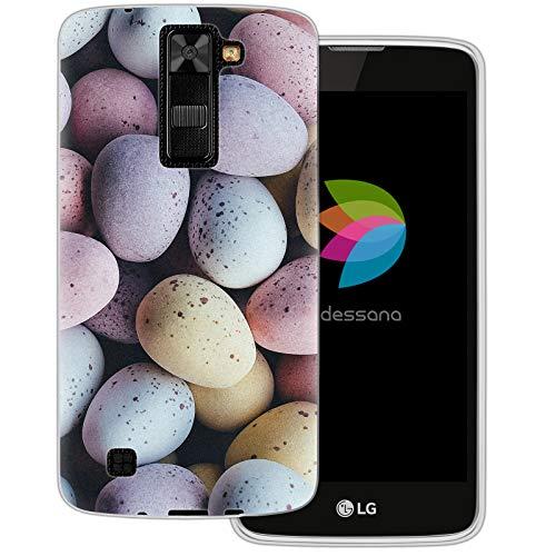 dessana Candy Süßigkeiten Transparente Schutzhülle Handy Case Cover Tasche für LG K8 Oster Eier