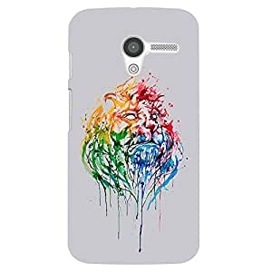 Back cover for Moto X (1st Gen) Colourful Tiger 2
