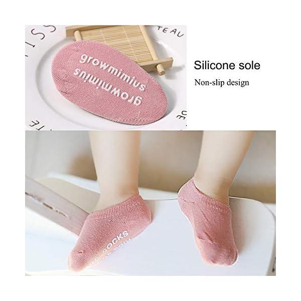 QH-shop 3 Pares Rodilleras para Bebés y 3 Pares Calcetines con Silicona Antisdeslizantes Almohadillas para Niño Rodilla… 5