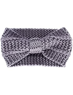 Butterme Frau Lady Mädchen Fashion Crochet Bogen Turban Strick Gestricktes Stirnband headwrap Winter Ear wärmer...
