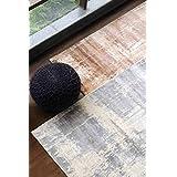 """La República alfombra tejida a mano & impreso Beige viscosa Woodward alfombra (7'.6""""x 5' 3""""), 1pieza"""
