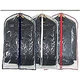 Hangerworld Lot de 18 housses de protection transparentes zippées pour costumes/manteaux
