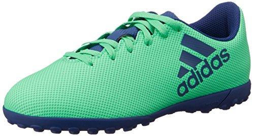 adidas Boys X 17 4 Astro Turf Trainers Football Boots AeroGreen Ink UK C13  31 5