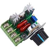 Yosoo Controlador PWM de Motor de CA de Control de Velocidad 2000W Voltaje Ajustable Regulador 25A 50-220V LED Dimmer