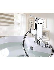 pengweiRamen cuivre salle de bains bassin robinet monotrou robinet chaud / froid vanne mélangeuse