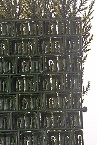 artplants Set 2 x Künstliches Zypressen-Heckenelement Neoh, grün, 25 x 25 cm – Kunsthecke/künstliche Pflanze