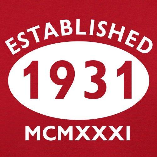 Gegründet 1931 Römische Ziffern - 86 Geburtstag - Herren T-Shirt - 13 Farben Rot