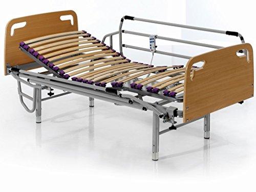 Gerintel Cama articulada eléctrica 90 x 190 cm. cabecero, piecero y Patas Regulables en Altura