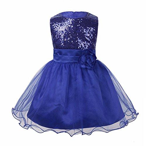 iiniim Baby Mädchen Kleid Prinzessin Kleid Pailletten Festlich Kleid Taufkleid Mesh Partykleid...