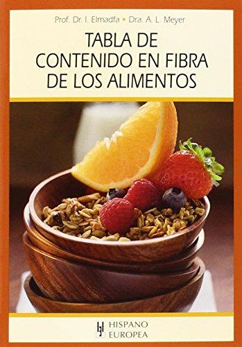 Tabla De Contenido En Fibra De Los Alimentos (Tablas de alimentos)