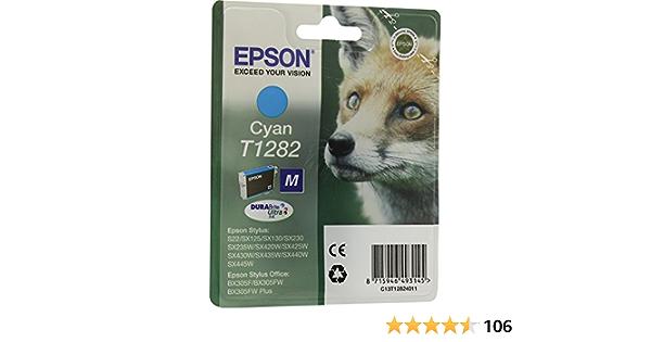 Epson C13t12824022 Cyan Original Tintenpatronen Pack Of 1 Bürobedarf Schreibwaren