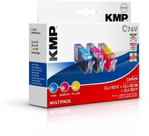 Preisvergleich Produktbild KMP C74V–Tintenpatrone gelb (cyan, magenta, gelb Tintenpatronen für Canon Pixma IP 3600Canon Pixma iP 4600Canon Pixma iP 4600x, Canon Tintenstrahldrucker Canon PIXMA PIXMA IP 4700MP 540, Box)