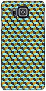 The Racoon Grip printed designer hard back mobile phone case cover for Samsung Galaxy Alpha. (Cyan Geome)